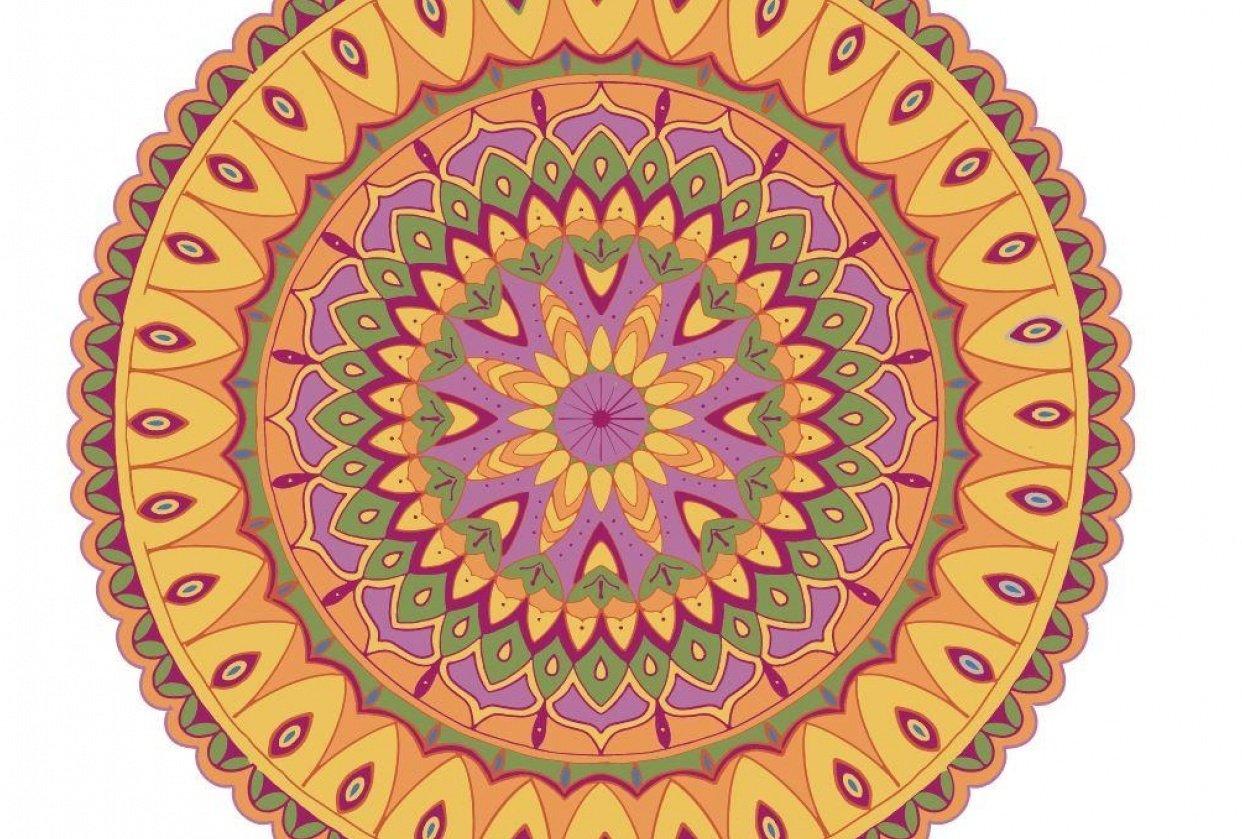 Mandala Yellow - student project