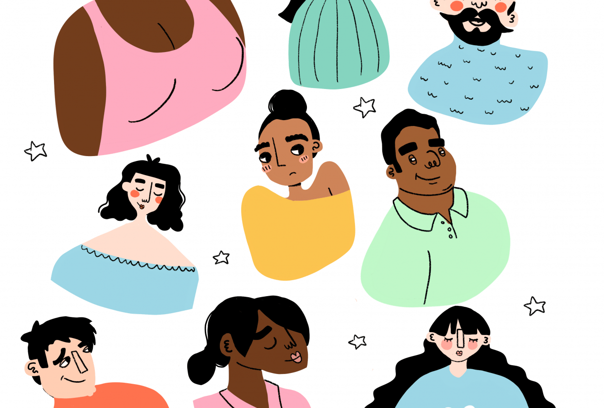 colourful people - student project