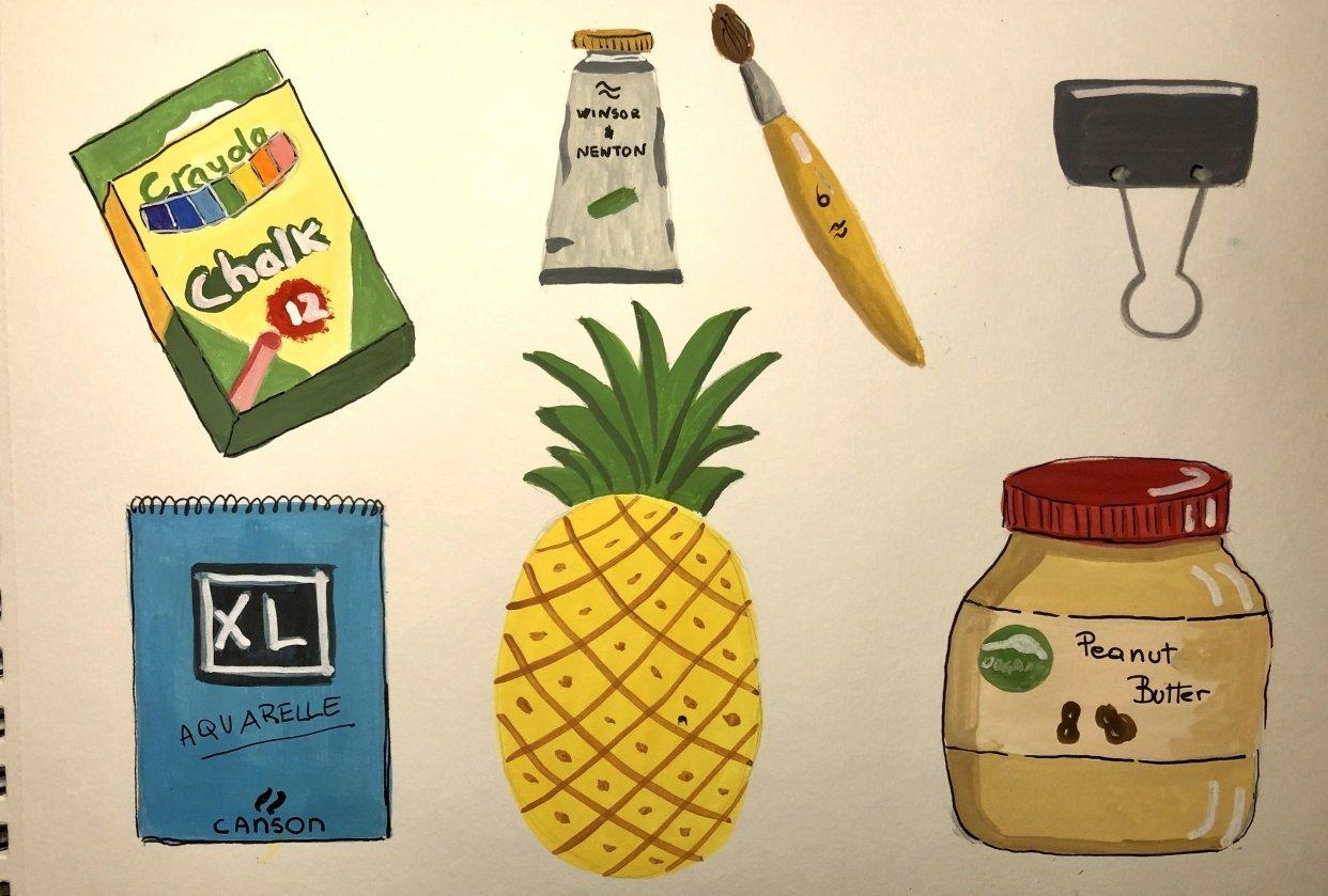 Gouache fun - student project
