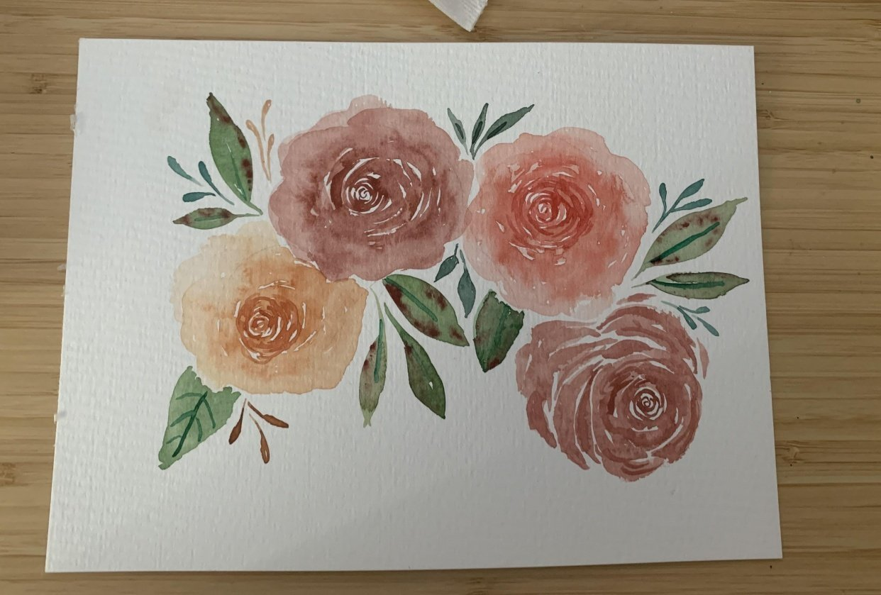 Watercolor Roses - student project