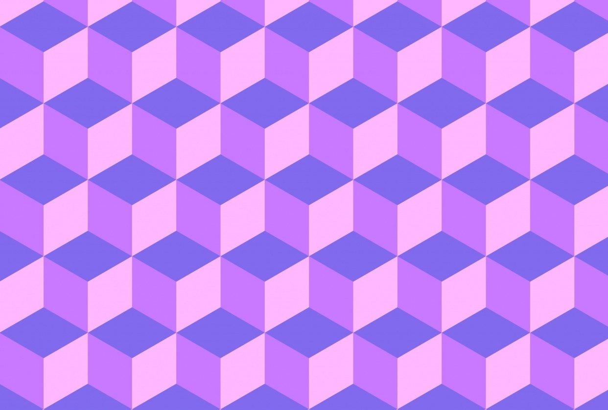 Purple Pastel Cube Pattern - student project