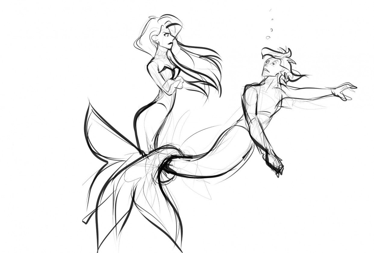 mermaid couple - student project