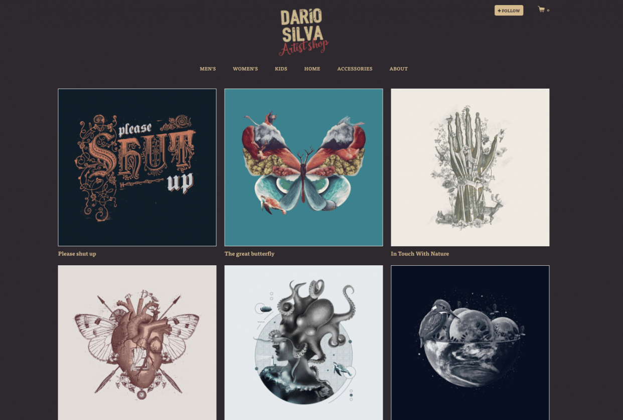 My threadless shop is all about collage - student project