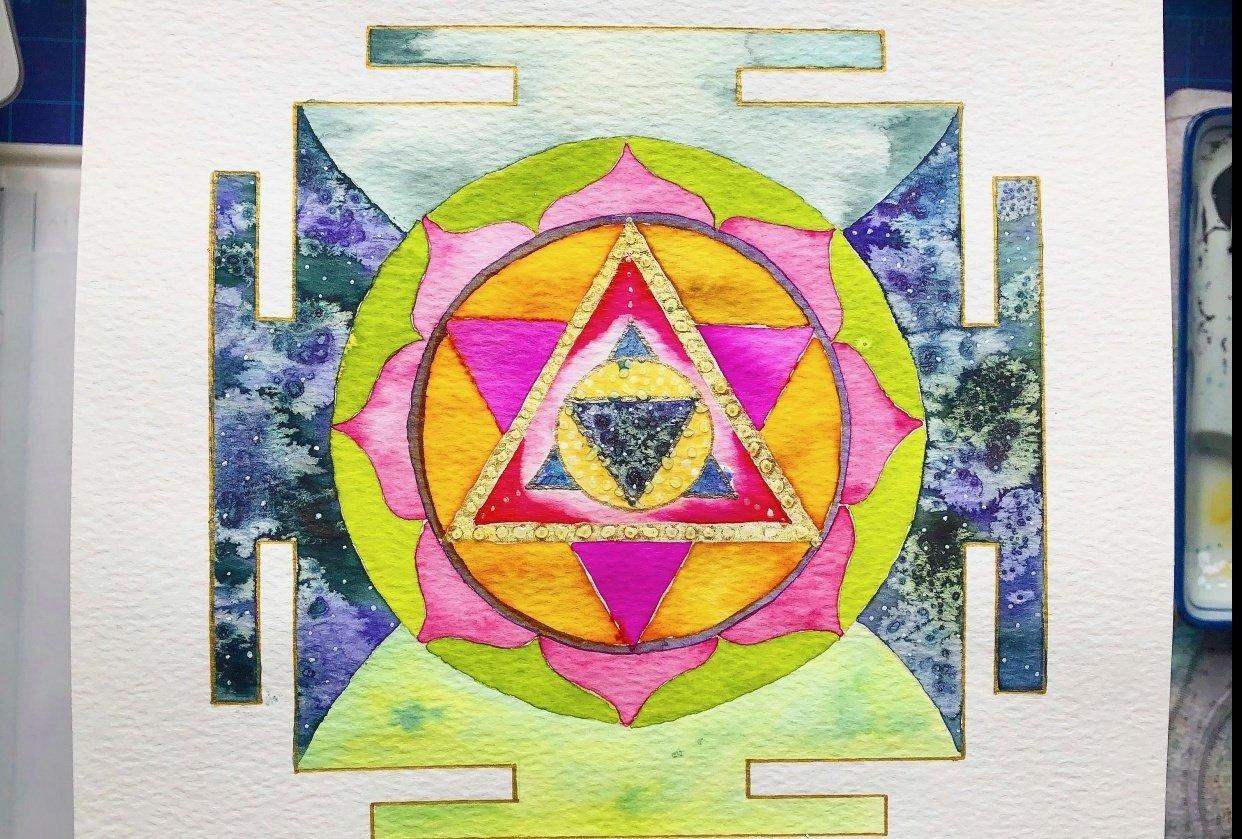 Infinite Healing Mandala - student project