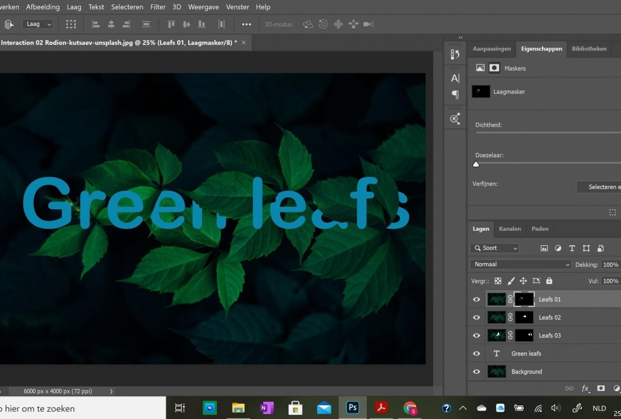 Photoshop essentials - Text and Image Interaction - student project
