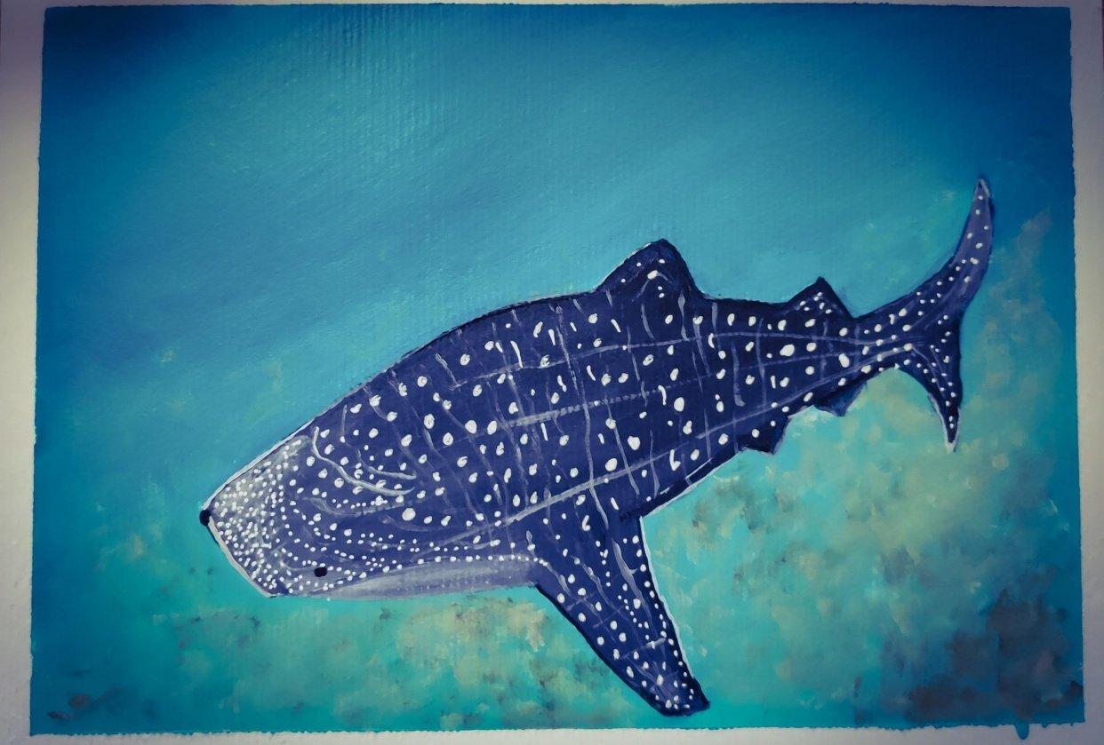 UnderWater Life Painting (Acrylic Medium) - student project