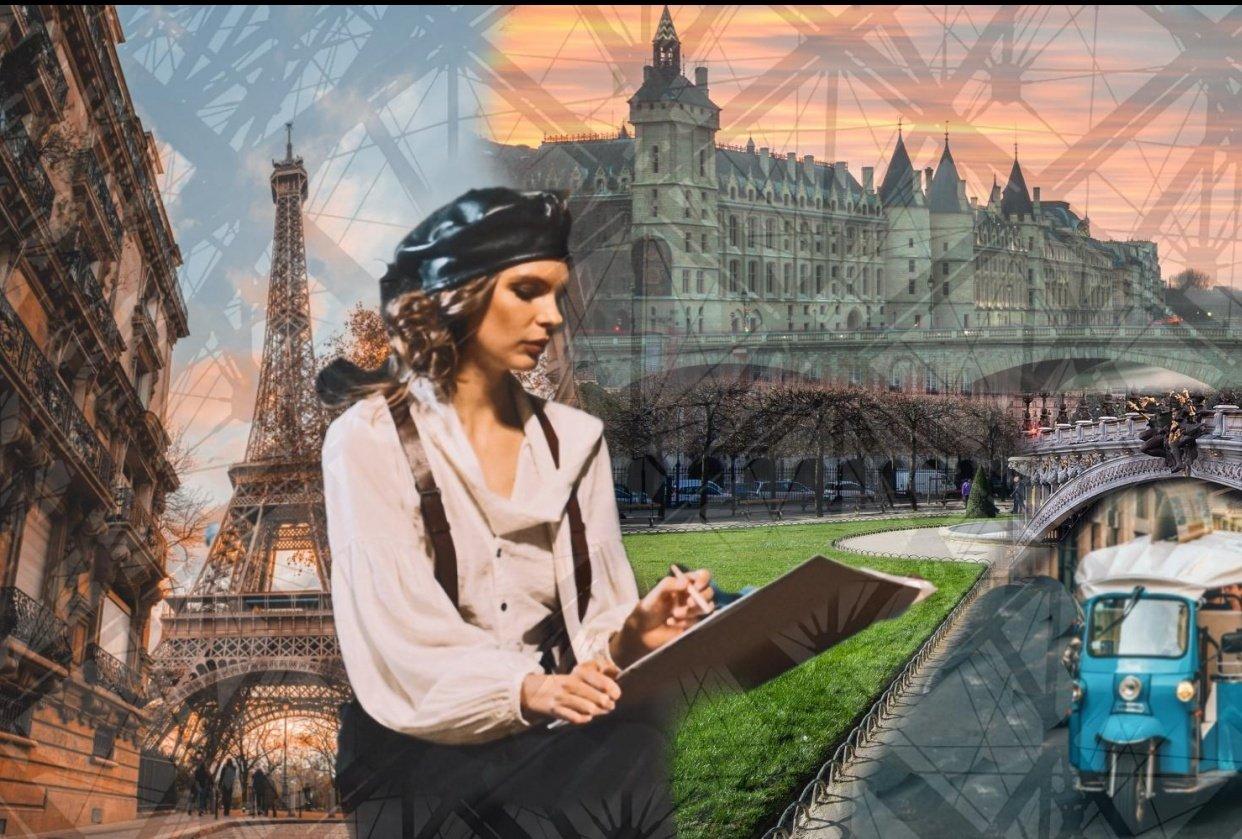 Photo Collage Paris - student project