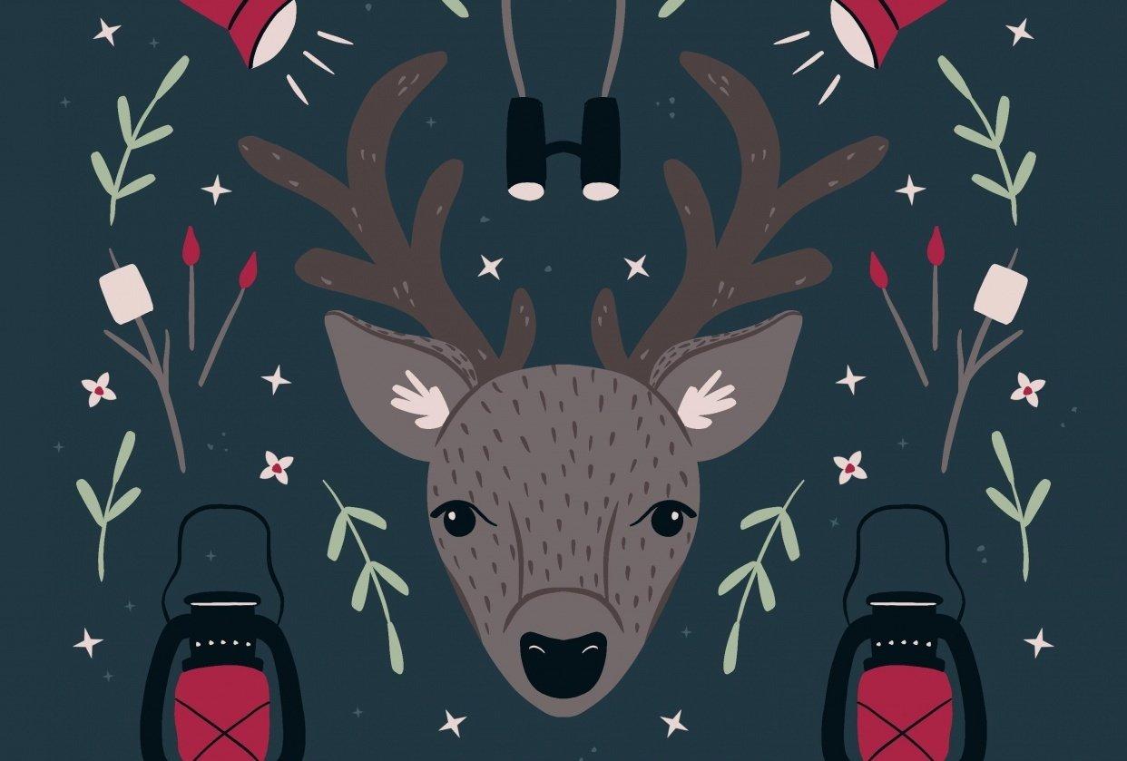 Deer symmetry illustration - student project