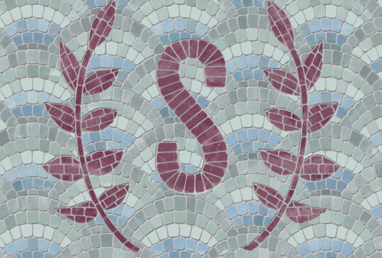 Mosaic Monogram - student project
