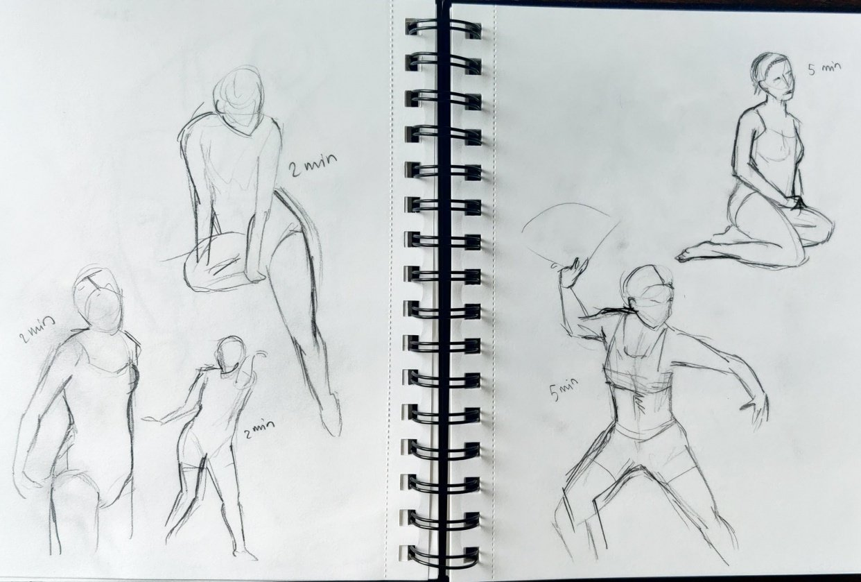 Timed drawing excercise - student project
