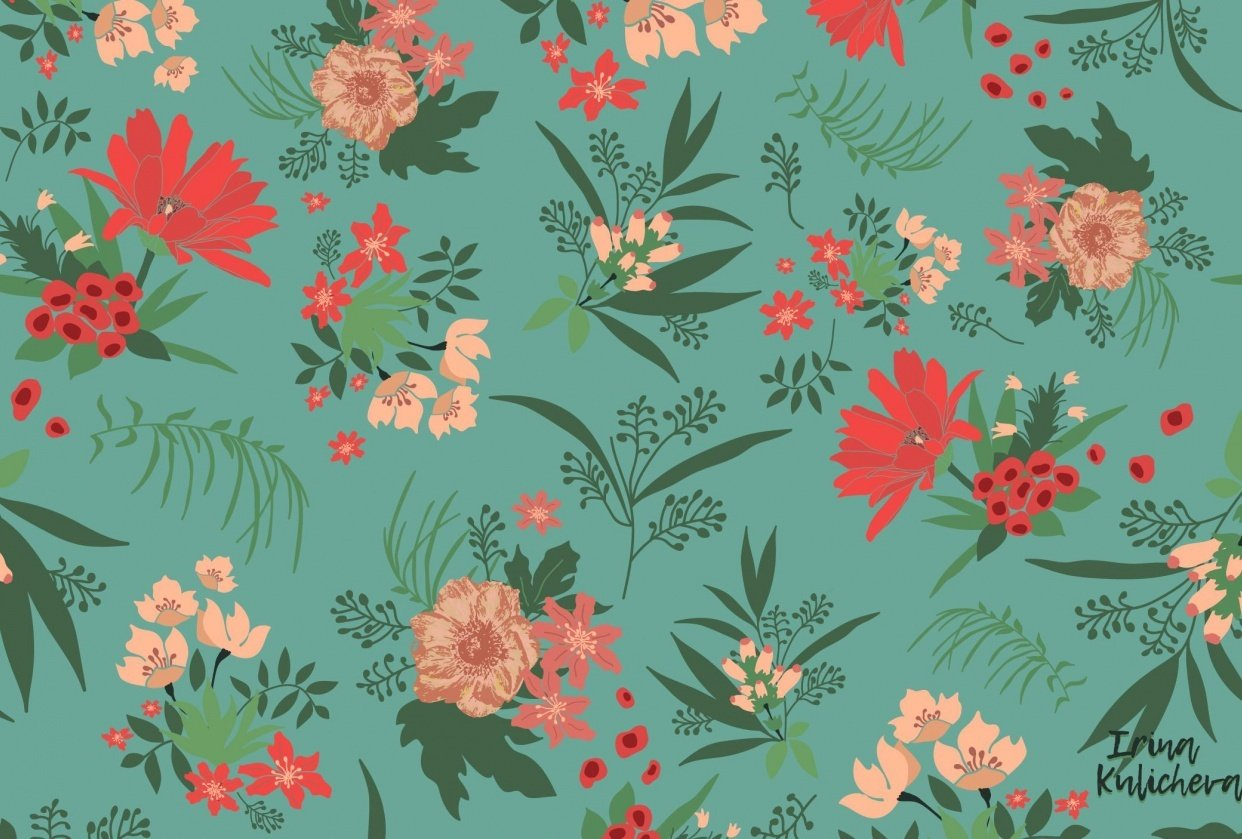 """My first flower pattern """"Nostalgia"""" - student project"""