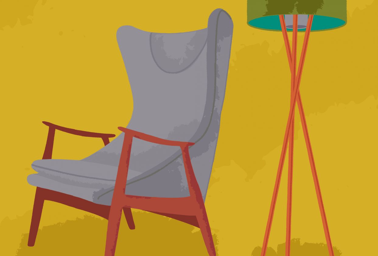 Chair with a lamp - student project