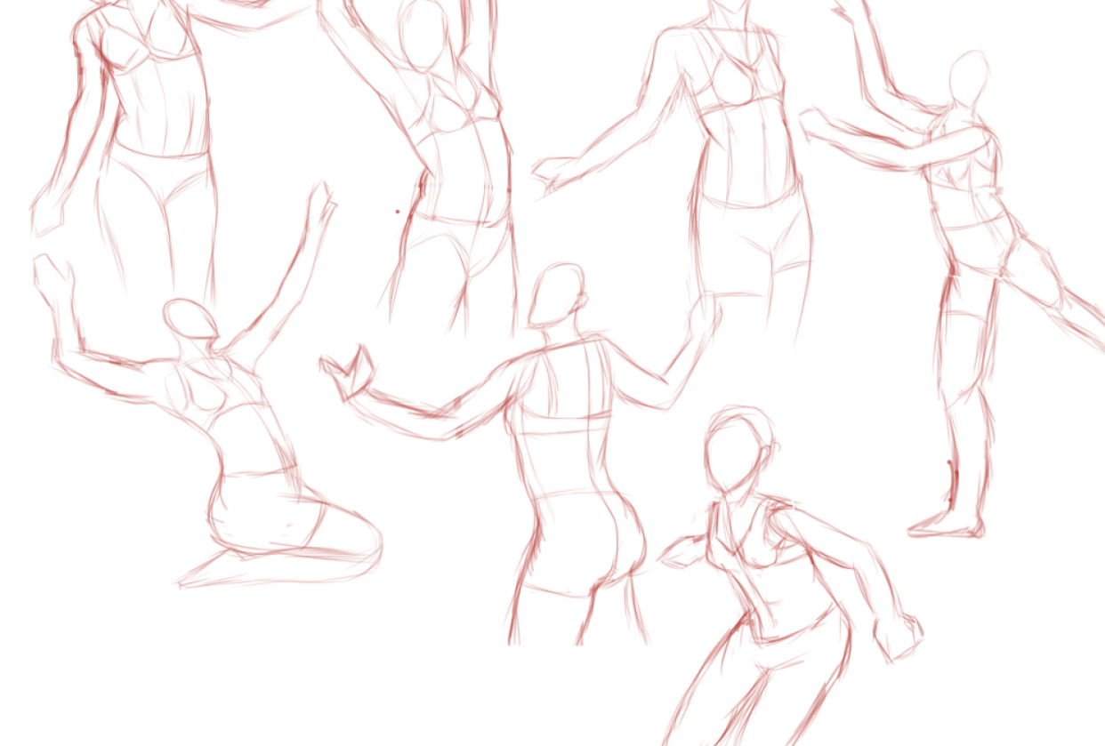 Dynamic Poses, Bending and Twisting - student project
