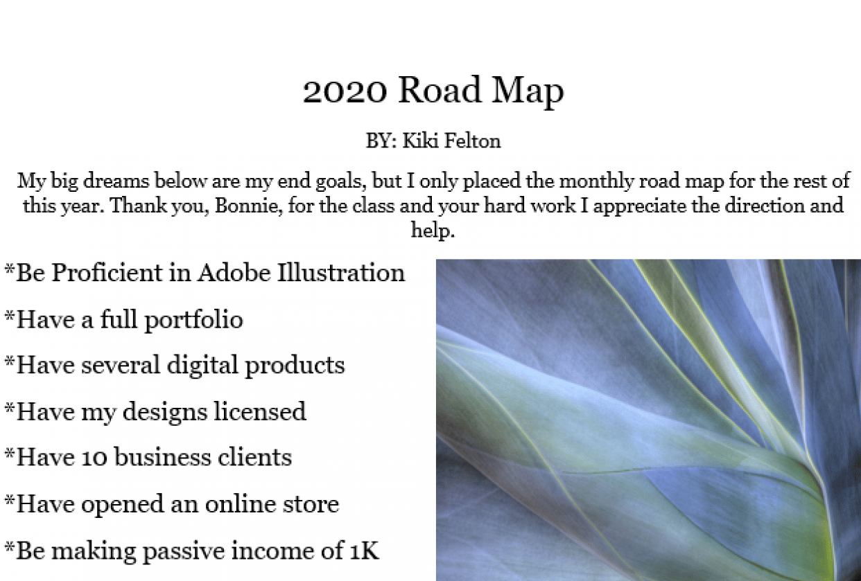 2020 Road Map - student project