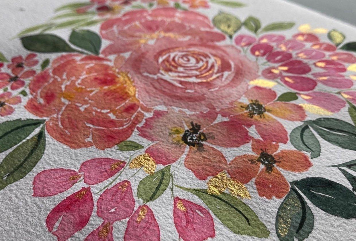 Blush Pink Bouquet - student project