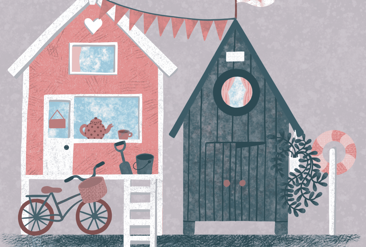 Textured illustrations - student project