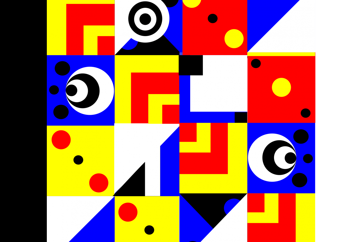 Primary Colors Pattern - student project