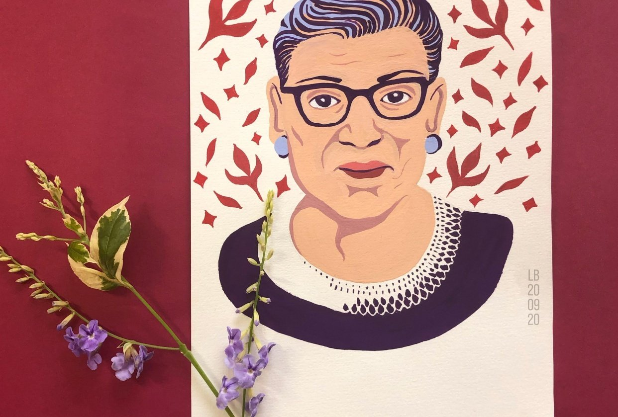 Portrait of Ruth Bader Ginsburg - student project