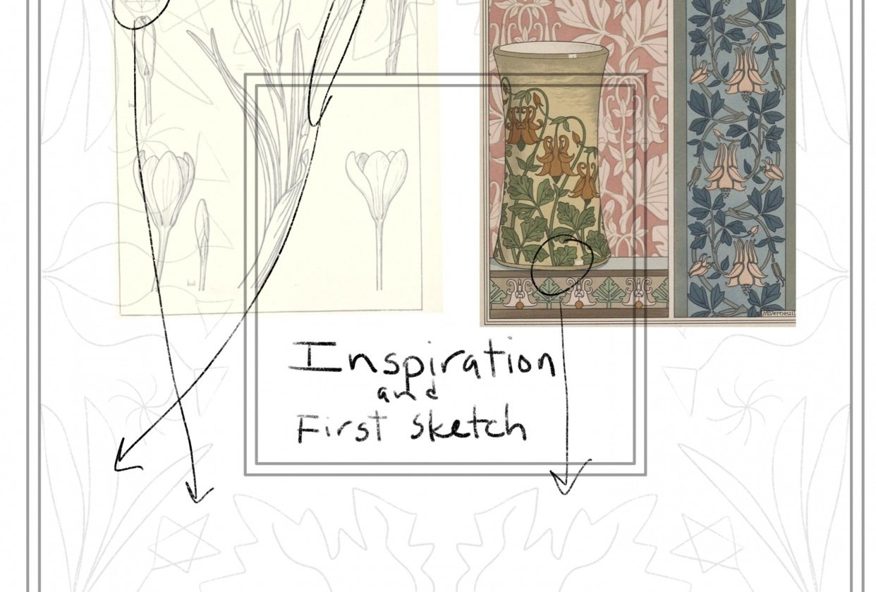 Art Nouveau Sketch and First Project - student project