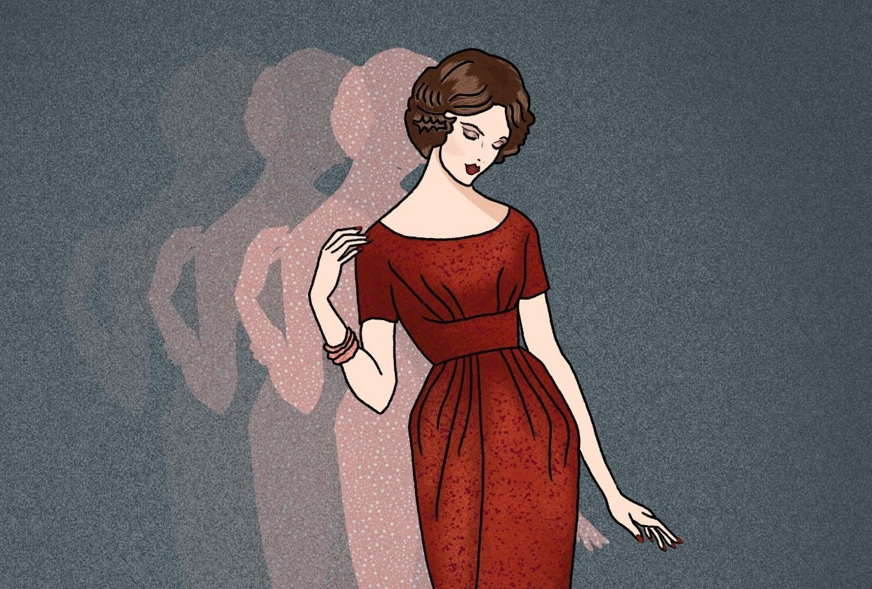 Pattern Lady in Red - student project