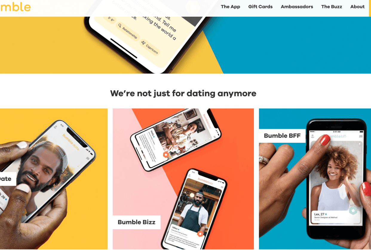 Bumble - The Fun Way to Meet New People - student project