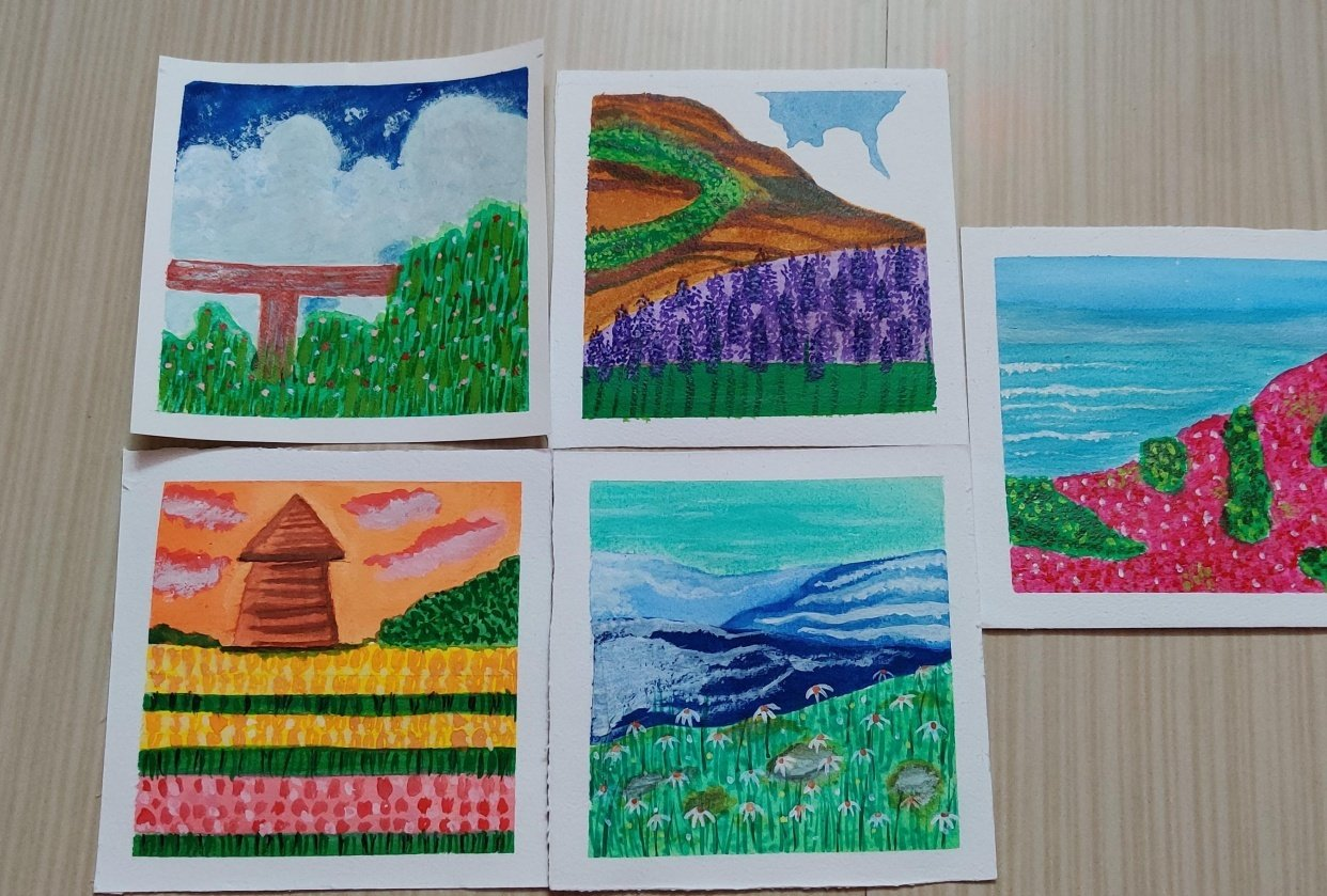 gouache kick start 5 projects - student project