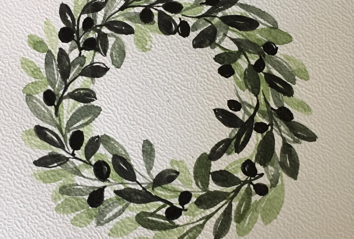 Olive wreath - student project