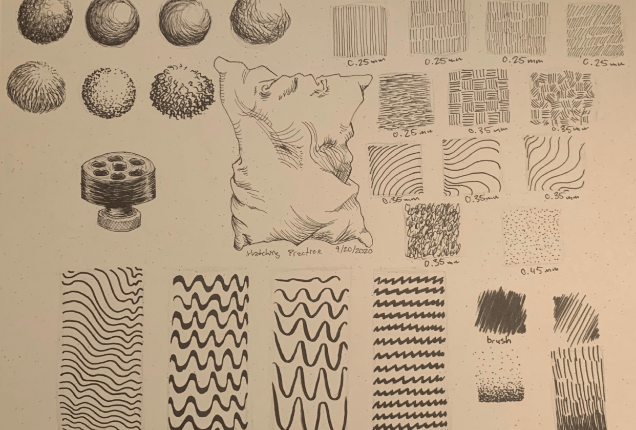Hatching Practice Sheet - student project