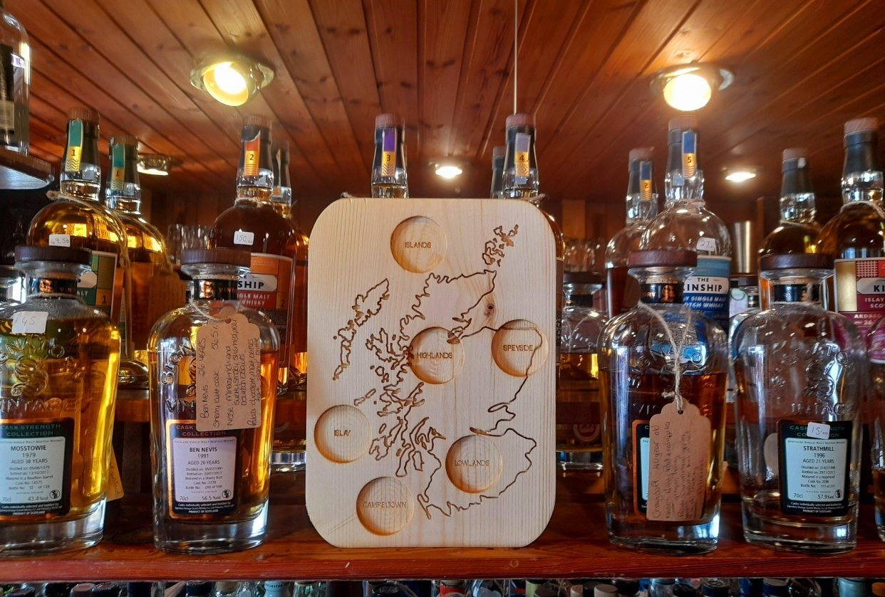 Scottish Whiskey Board - The 6 Regions - student project