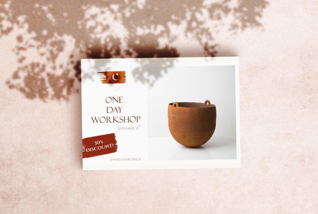 Ceramic studio flyer - student project
