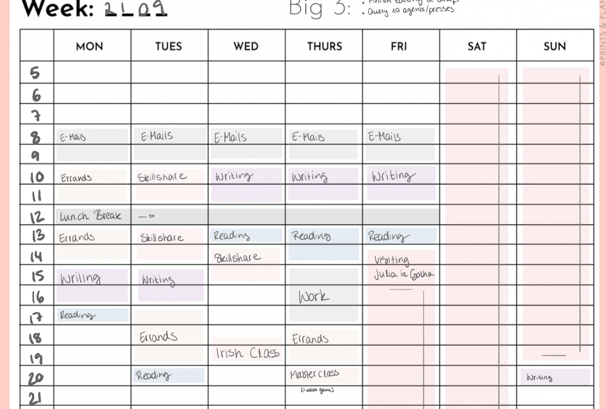 Scheduling Efforts - student project