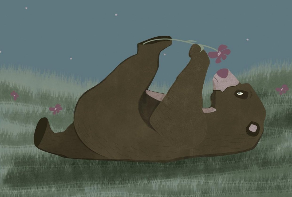 Bear with flower - student project