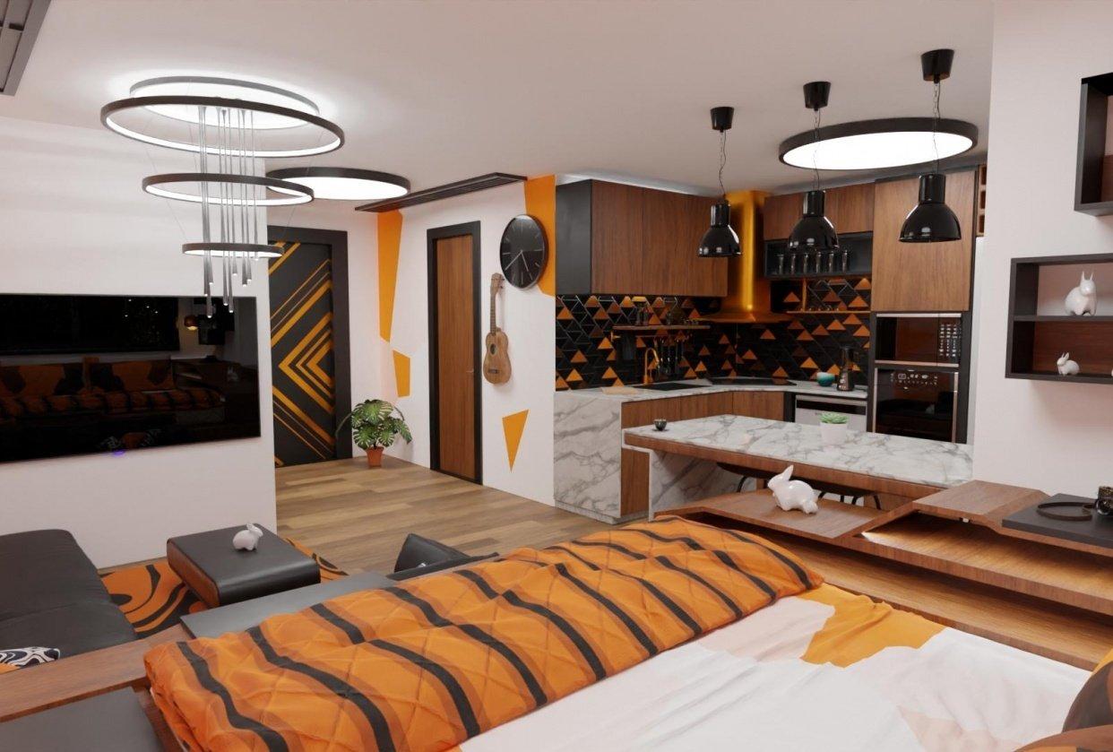 apartments interior design - student project