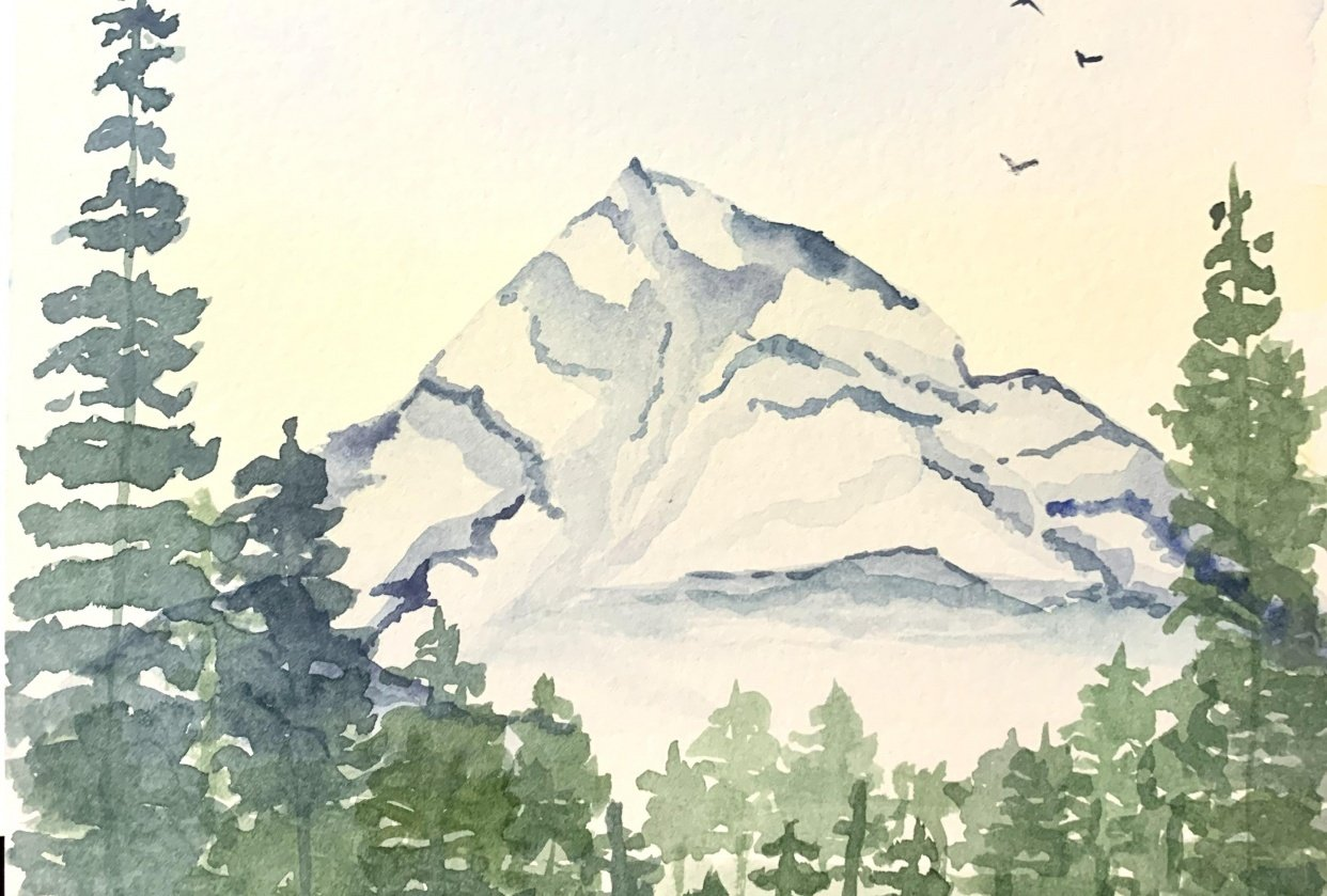 Snowy Cragy Mountain - student project