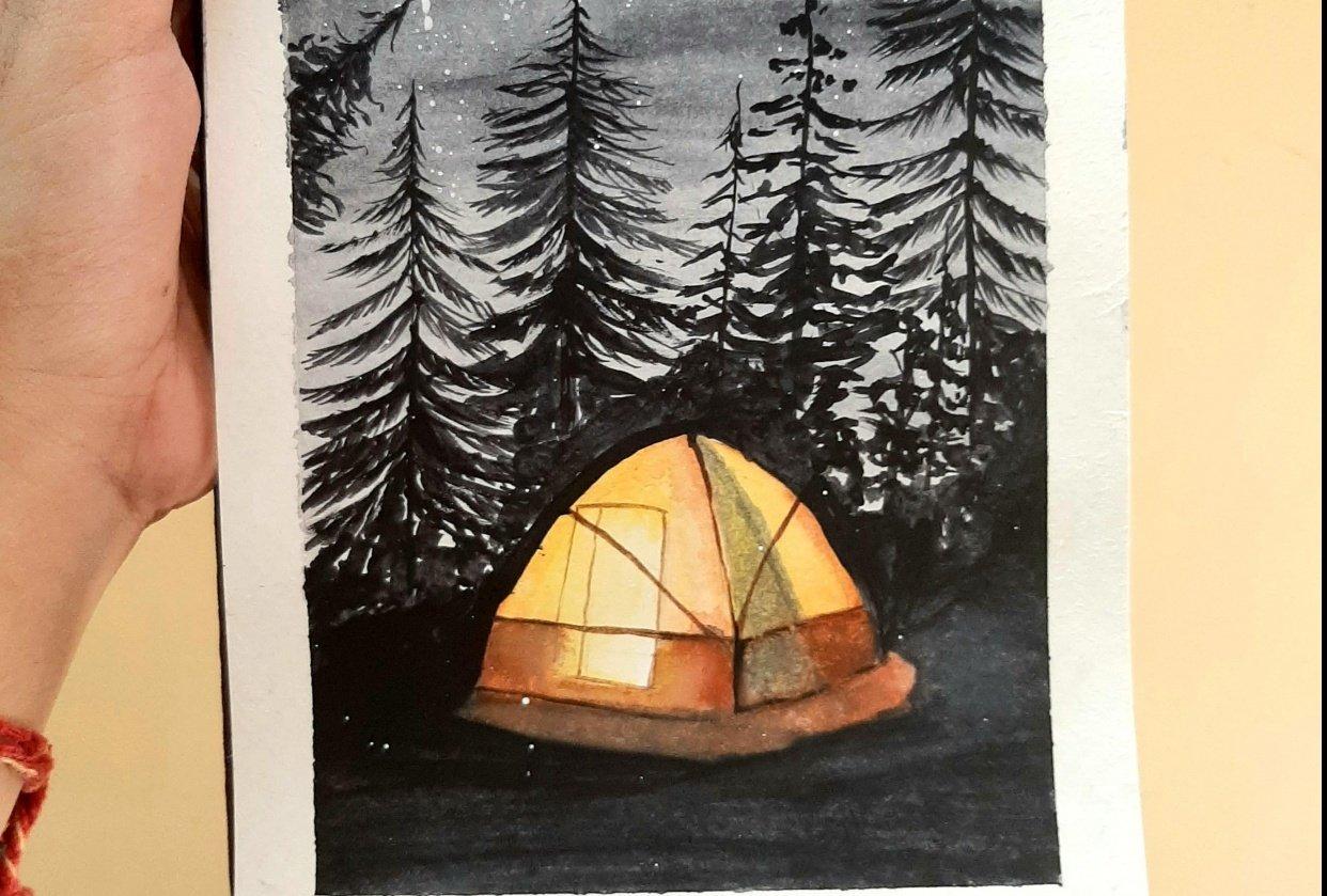 Pine tree magic.... - student project