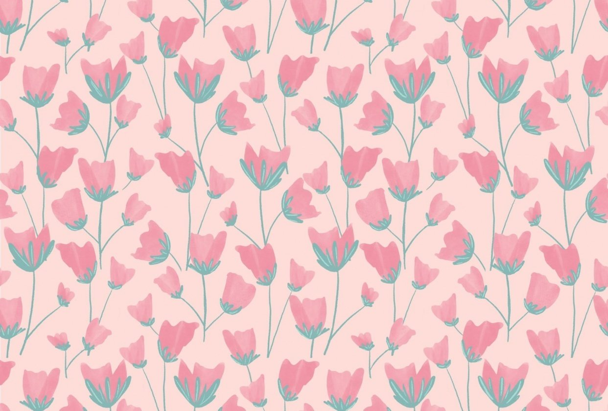 Flowers pattern - student project