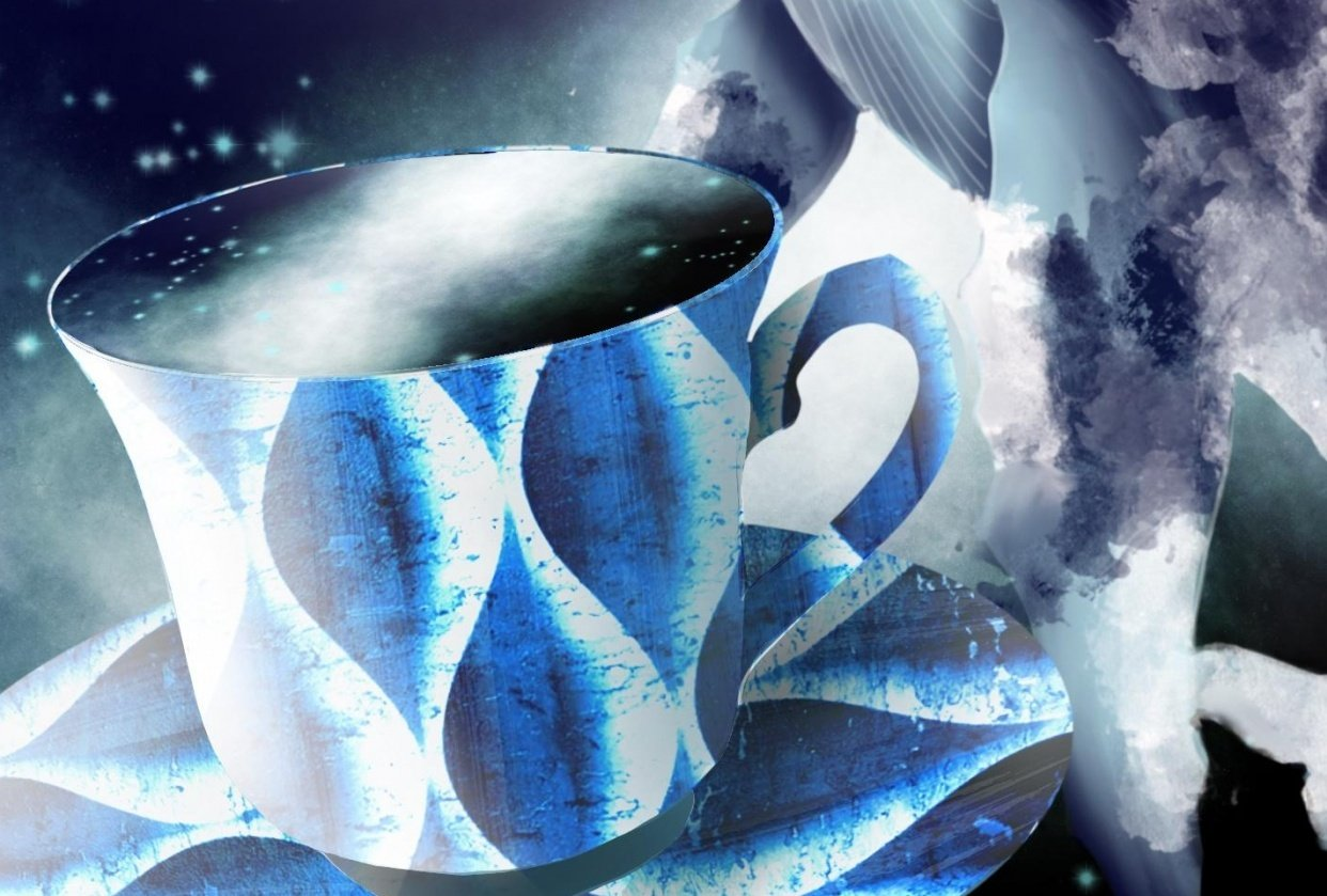 Teacup space whale - student project