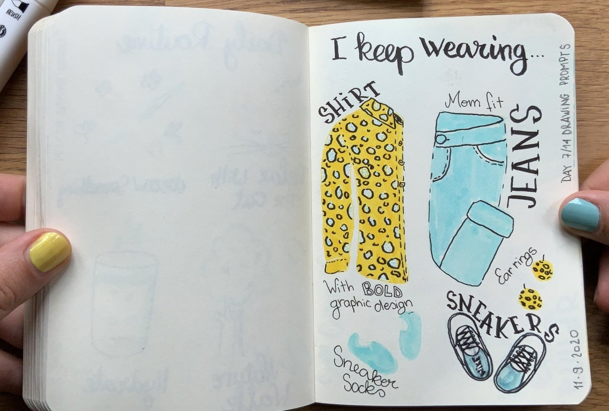 14 days of yellow and blue - student project