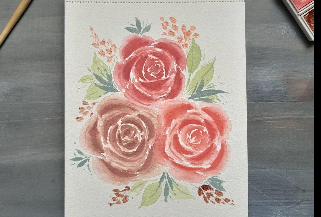 Rosas Pastel - student project