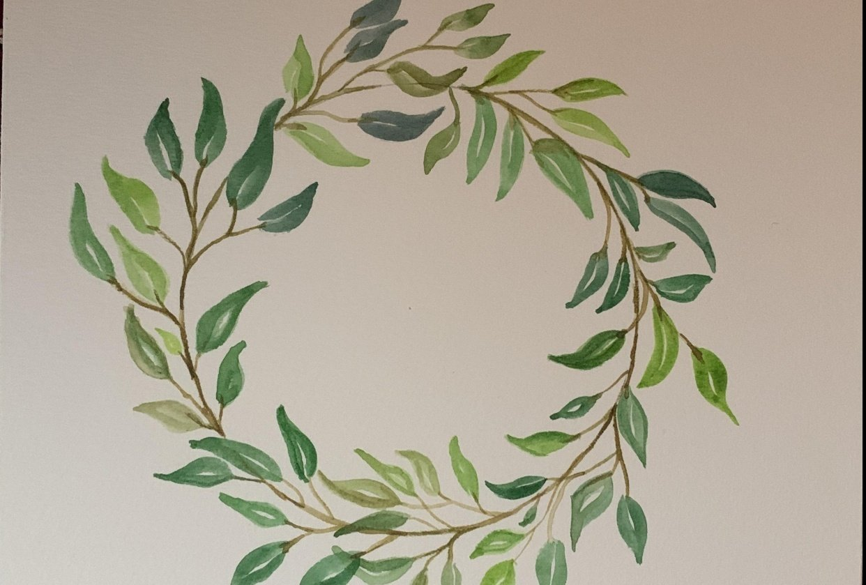 Corona de hojas - student project
