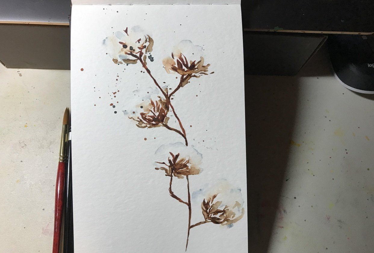 Cotton flower - Less is more - student project