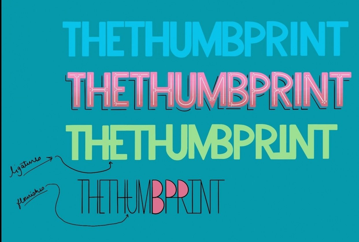 TheThumbprint Lettering - student project