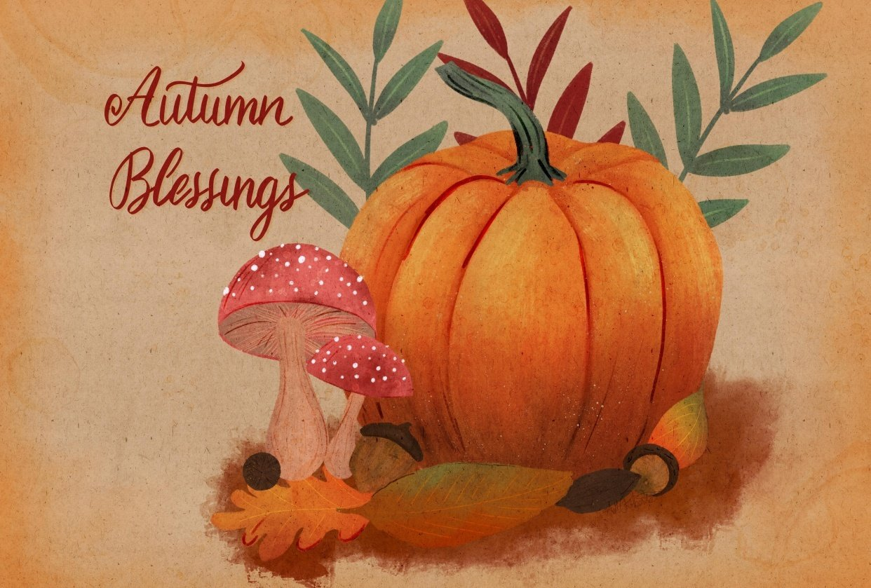 Autumn Blessings - student project