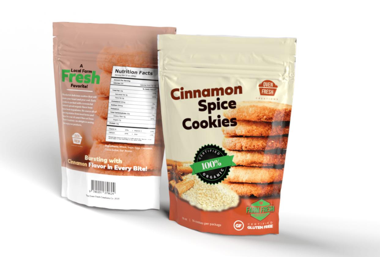 Cinnamon Spice Cookies Mockup - student project