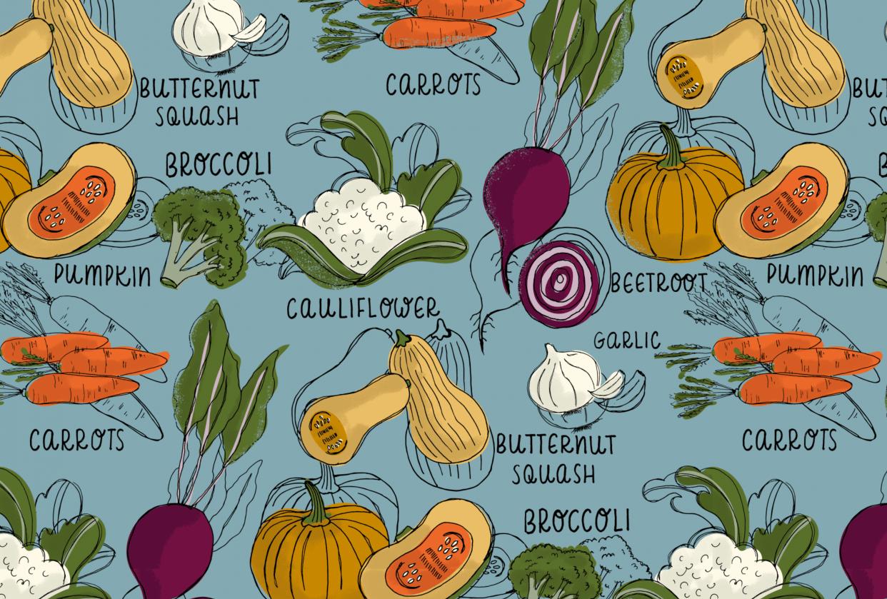 Autumn Veggies - student project