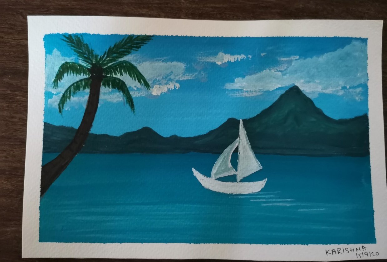 First Goauche Painting - student project