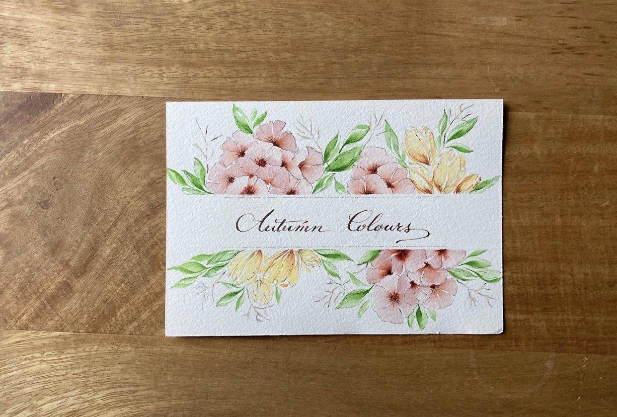 Autumn florals - student project
