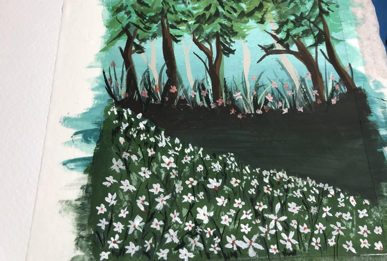 Gouache Forests - student project
