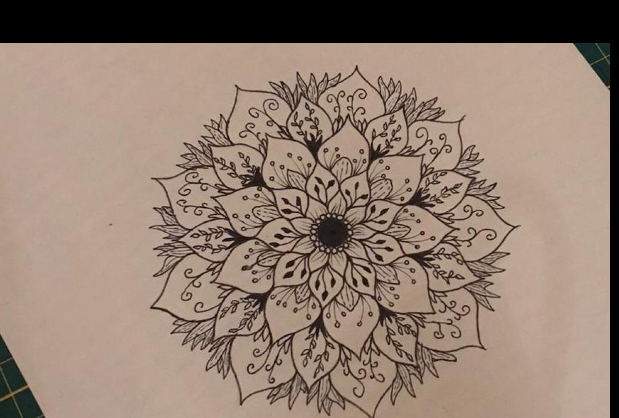 My first mandala ever - student project