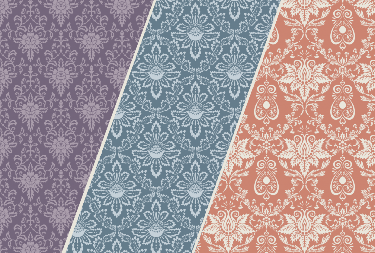 Classic Damask Patterns - student project